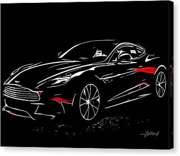 2013 Aston Martin Vanquish Canvas Print