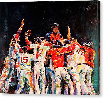 2013 Boston Red Sox World Series Champions Canvas Print by Derek Russell