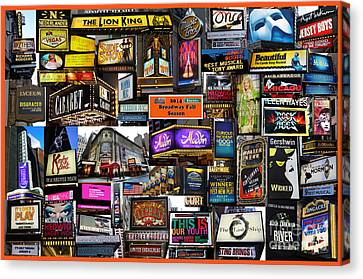2014 Broadway Fall Season Collage Canvas Print by Steven Spak