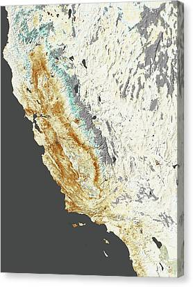 2014 California Drought Canvas Print by Nasa Earth Observatory