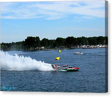 2014 Gold Cup Winner U-6 Oberto Canvas Print by Michael Rucker