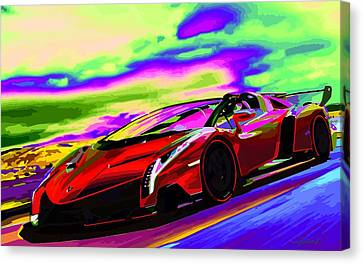 2014 Lamborghini Veneno Roadster Abstract Canvas Print by Maciek Froncisz