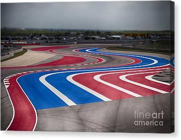 2014 Motogp Red Bull Grand Prix Of The Americas Track Canvas Print by Douglas Barnard