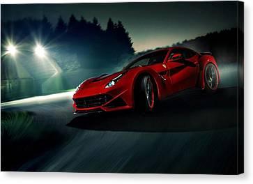 2014 Novitec Rosso Ferrari F12 Berlinetta N Largo Canvas Print by Movie Poster Prints