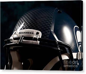 2014 Super Bowl Seahawks Canvas Print by Marvin Blaine