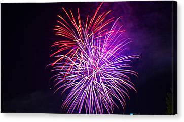 2014 Three Rivers Festival Fireworks Fairmont Wv 11 Canvas Print by Howard Tenke