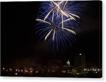 2014 Three Rivers Festival Fireworks Fairmont Wv 4 Canvas Print