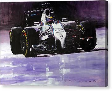 2014 Williams F1 Team Fw 36 Felipe Massa  Canvas Print by Yuriy Shevchuk