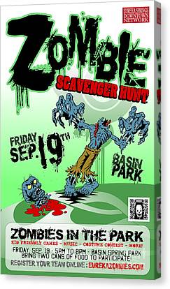 2014 Zombie Scavenger Hunt In Eureka Springs Ar Canvas Print