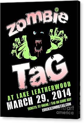 2014 Zombie Tag Eureka Springs Poster Canvas Print