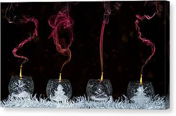 Happy New Year Canvas Print - 2015 by Lorenzo Ravasco
