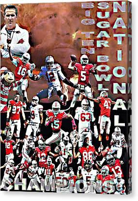 2015 Ohio State National Champions Canvas Print by Gerard  Schneider Jr