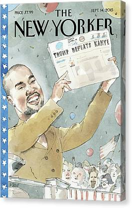 Presidential Elections Canvas Print - 2020 Vision by Barry Blitt
