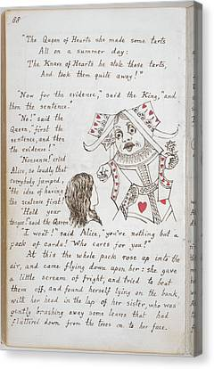 Alice's Adventures In Wonderland Canvas Print by British Library