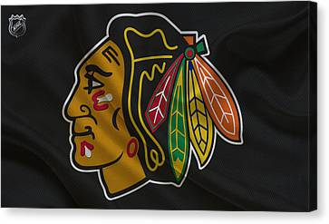 Hockey Canvas Print - Chicago Blackhawks by Joe Hamilton