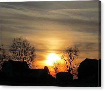 21 Dec 2012 Sunset Two Canvas Print by Tina M Wenger