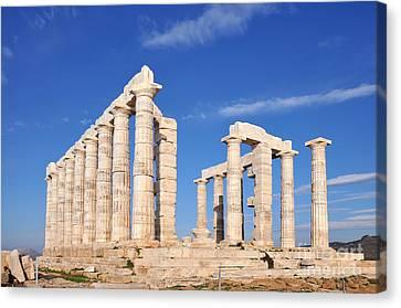 Pillars Canvas Print - Poseidon Temple by George Atsametakis