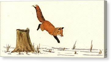 Red Fox Canvas Print by Juan  Bosco