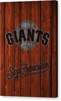 San Francisco Giants Canvas Print by Joe Hamilton