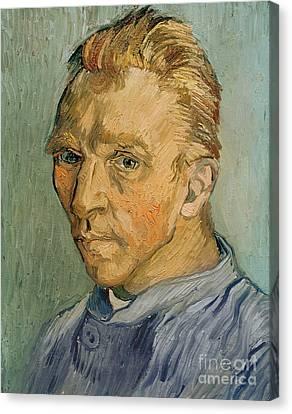 Blonde Canvas Print - Self Portrait by Vincent Van Gogh