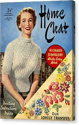 1950s Uk Home Chat Magazine Cover Canvas Print by The Advertising Archives