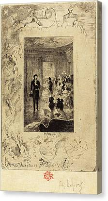 Betrothed Canvas Print - Félix-hilaire Buhot French, 1847 - 1898 by Quint Lox