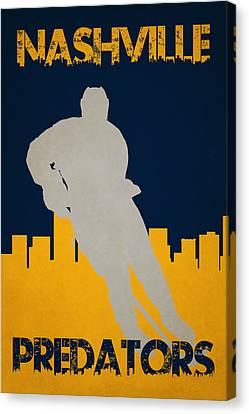Nashville Predators Canvas Print by Joe Hamilton