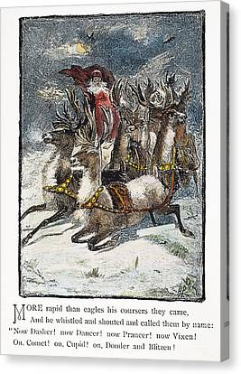 Night Before Christmas Canvas Print by Granger