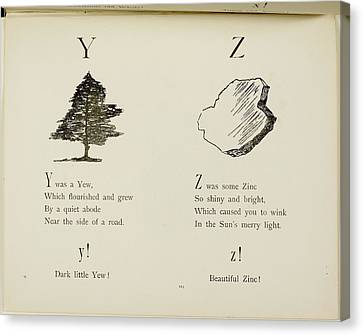 Nonsense Alphabets By Edward Lear Canvas Print