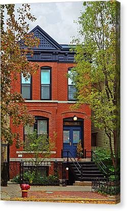 Old Buildings Canvas Print - 22 W Eugenie St Old Town Chicago by Christine Till