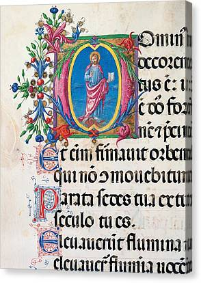 Anonymous Sienese Painter, Psalter Canvas Print