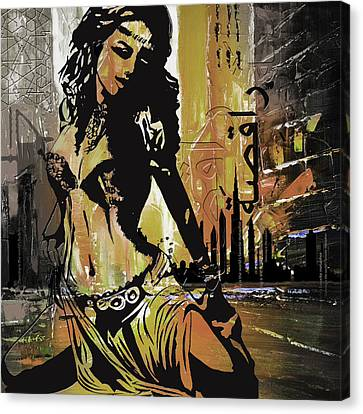 Abstract Belly Dancer 2 Canvas Print by Corporate Art Task Force