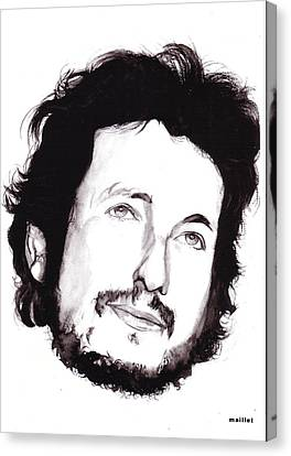Bob Dylan Canvas Print by Laurette Maillet