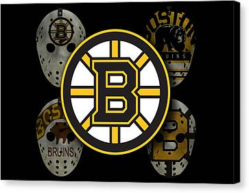 Goalie Canvas Print - Boston Bruins by Joe Hamilton