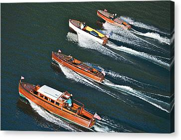 Classic Chris Craft Canvas Print by Steven Lapkin