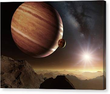 Alien Planet Canvas Print - Earth-like Alien Planet by Detlev Van Ravenswaay
