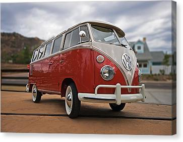 Volkswagon Canvas Print - 23 Window by Peter Tellone