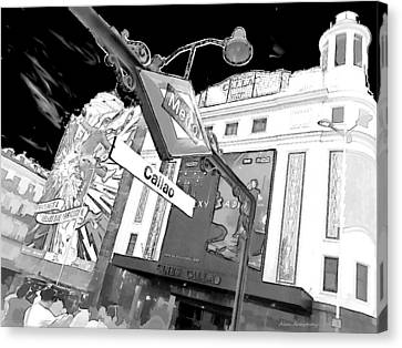 24 Callao Metro Madrid Canvas Print by Alan Armstrong