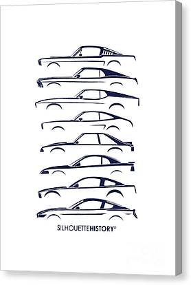 Ford Mustang Silhouettehistory Canvas Print