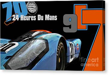 24 Heures Du Mans Canvas Print by Alan Greene