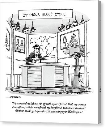 24-hour Blues Cycle Canvas Print by Joe Dator