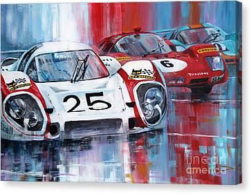 24 Le Mans 1970 Canvas Print by Yuriy Shevchuk