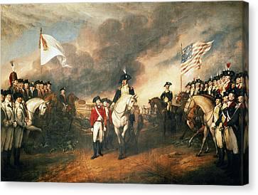 Yorktown Surrender, 1781 Canvas Print by Granger