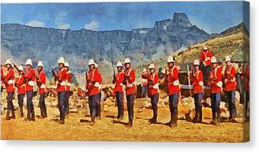 24th Regiment Of Foot - En Garde Canvas Print