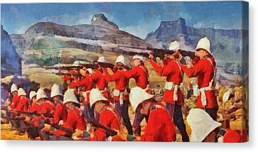 24th Regiment Of Foot - Rear Rank Fire Canvas Print