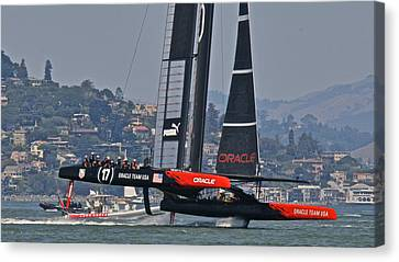 America's Cup Oracle Canvas Print by Steven Lapkin