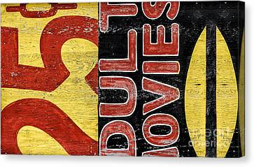 25 Cents Abstract Canvas Print by Terry Rowe