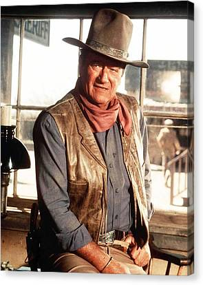 Wayne Canvas Print - John Wayne by Silver Screen