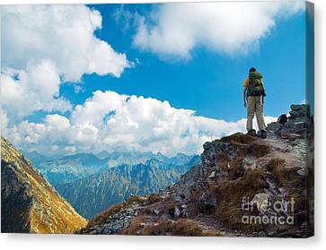 Mountains Landscape Canvas Print by Michal Bednarek