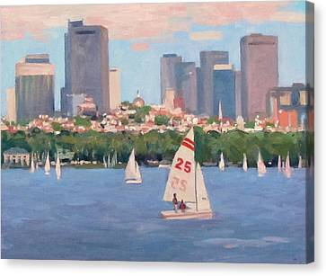 25 On The Charles Canvas Print by Dianne Panarelli Miller